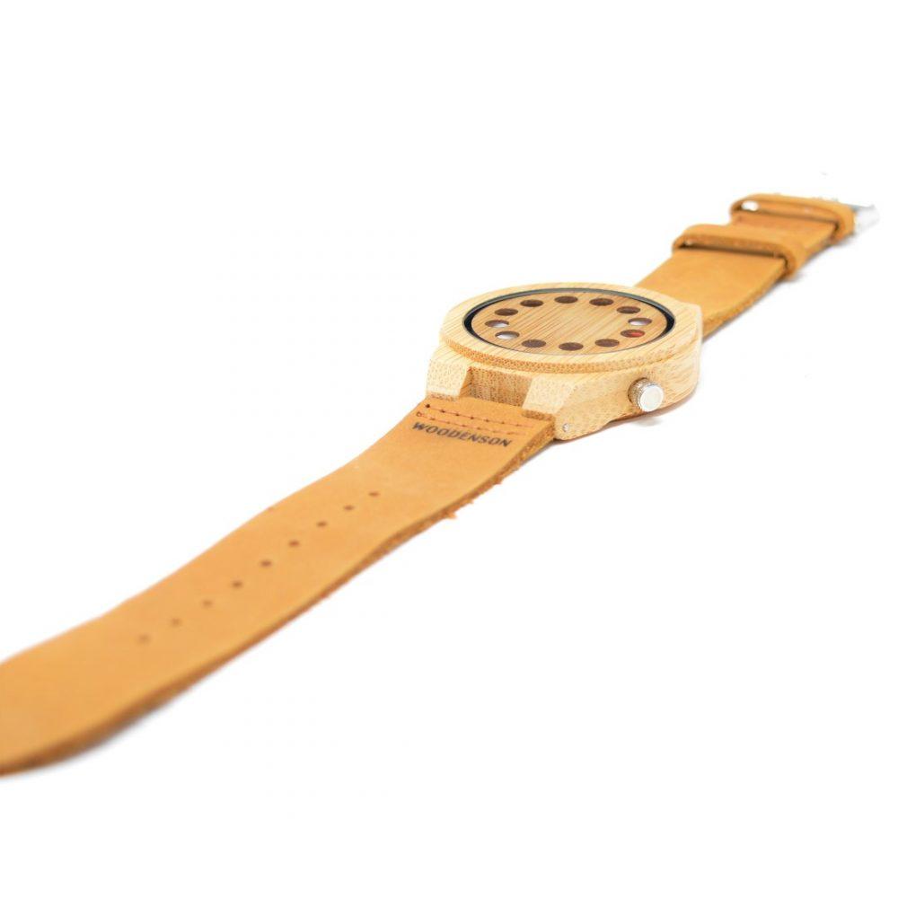 Reloj de Bambú sin agujas modelo Wormhole
