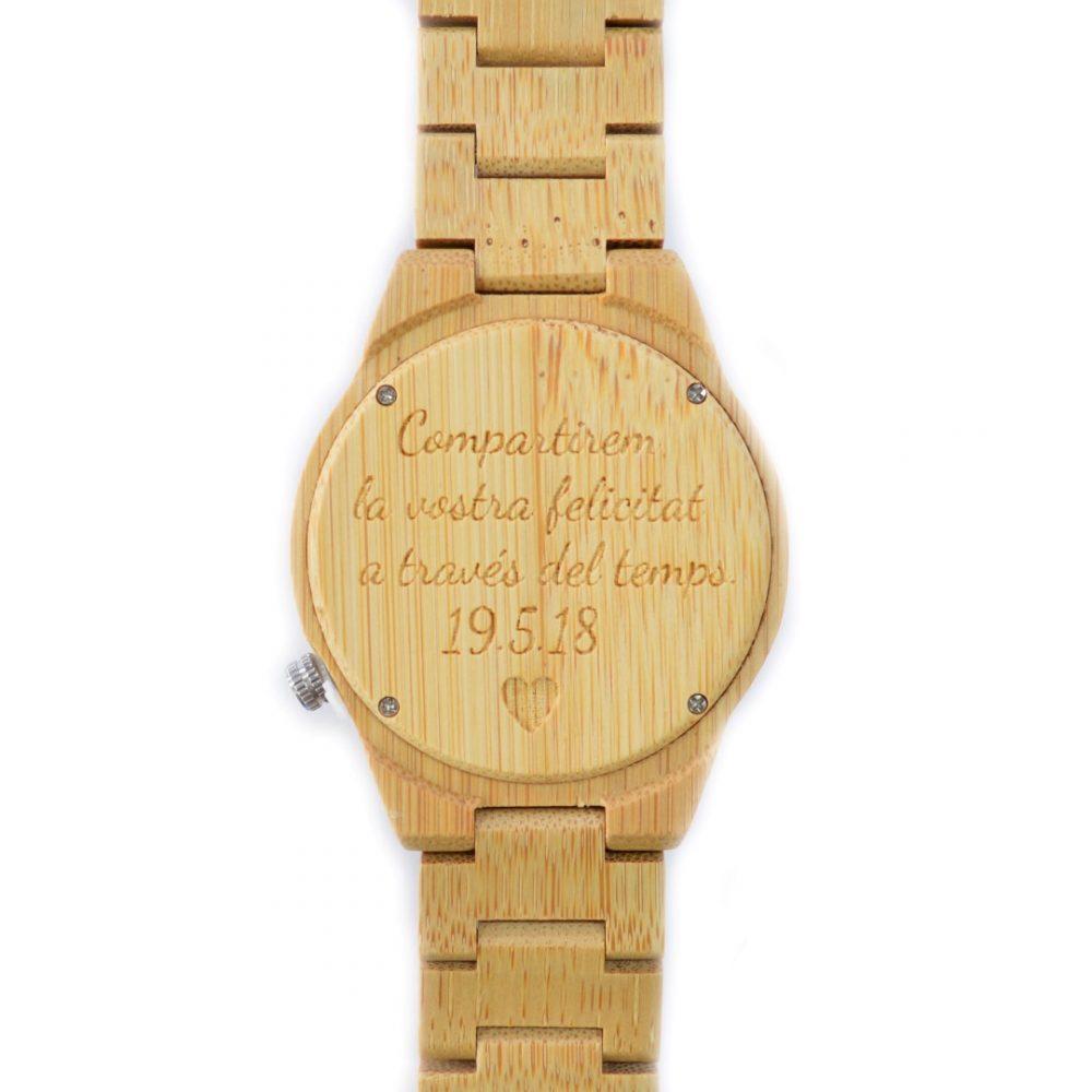 reloj de madera sasanoyo