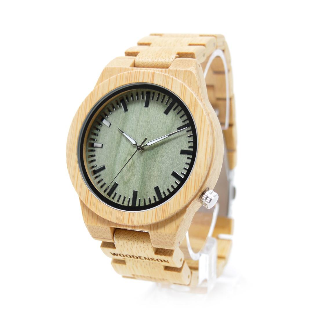 338c7fd2b430 Reloj de madera de pulsera articulada Sasanoyo