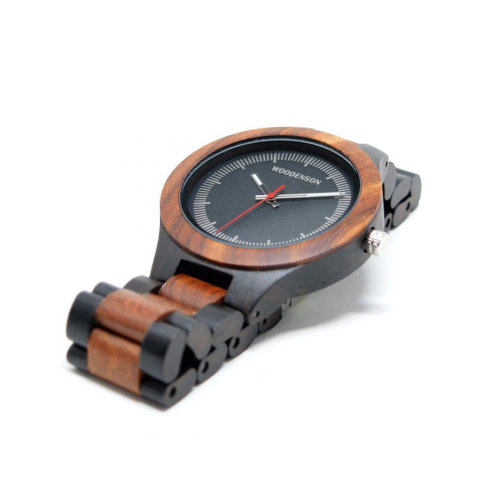 Reloj articulado de madera en dos colores modelo Senkei