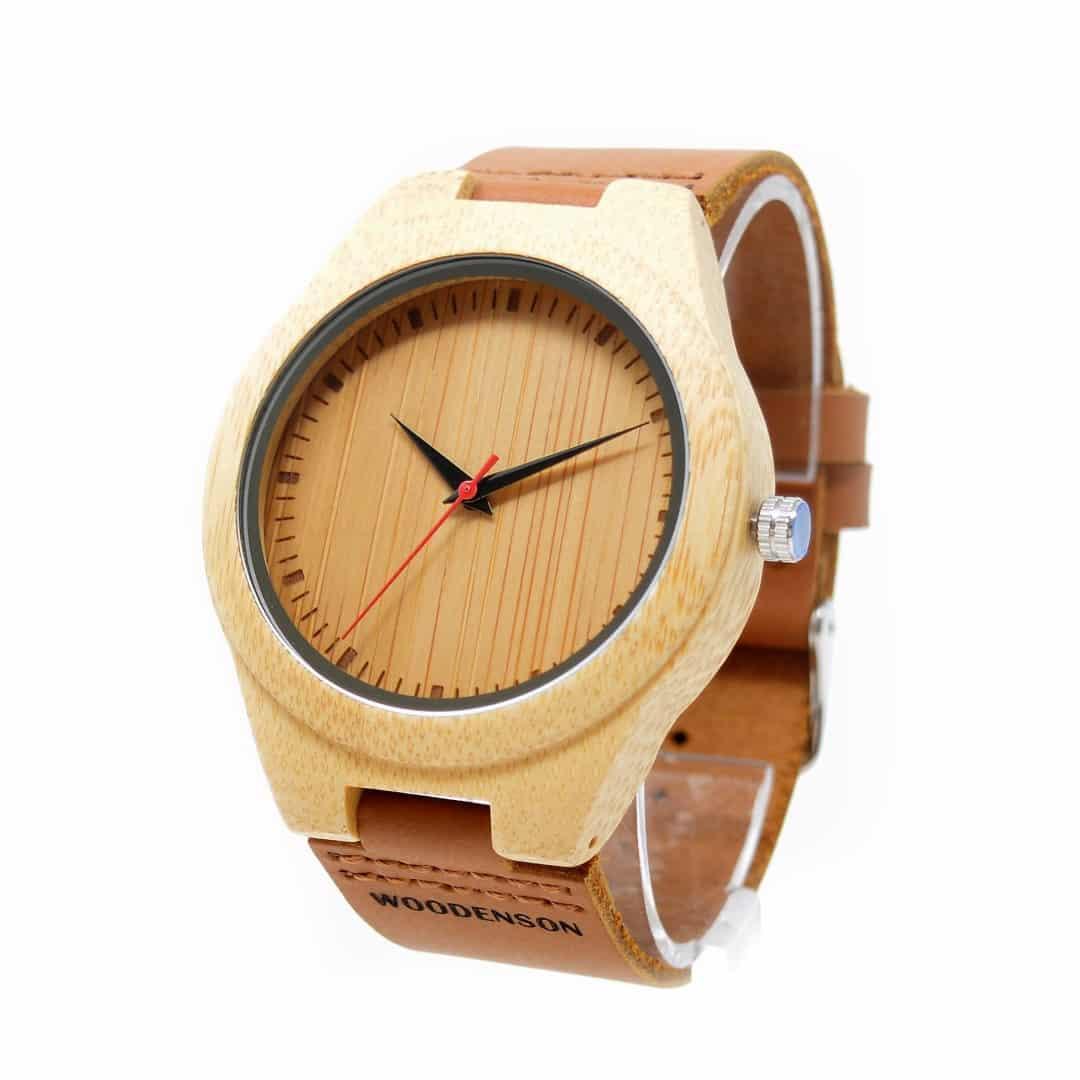 código promocional 14802 03aa7 Reloj de pulsera de bambú Deva